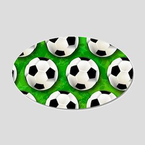Soccer Ball Football Pattern Wall Decal