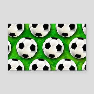 Soccer Ball Football Pattern Rectangle Car Magnet