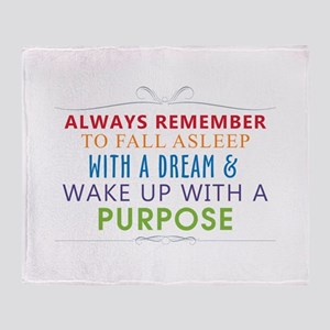 Wake Up With a Purpose Throw Blanket