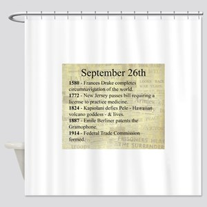 September 26th Shower Curtain