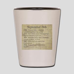 September 26th Shot Glass