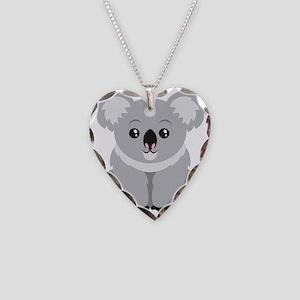 Cute Koala Bear  Necklace Heart Charm