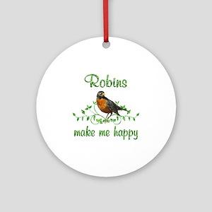 Robin Happy Ornament (Round)
