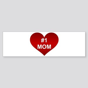 #1 MOM Bumper Sticker