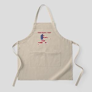 Custom Baseball Batter American Flag Apron