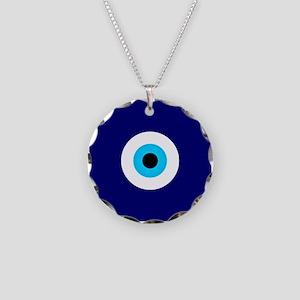 Evil Eye Charm  Necklace Circle Charm
