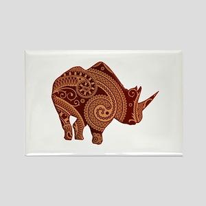 Rhinoceros Rectangle Magnet