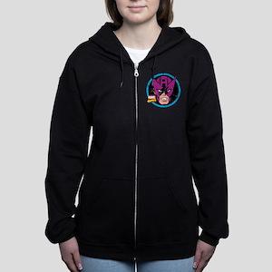 Hawkeye Face Women's Zip Hoodie