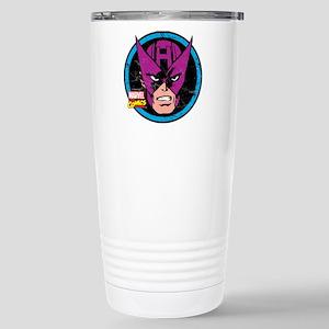 Hawkeye Face Stainless Steel Travel Mug