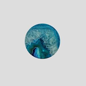 Blue agate Mini Button