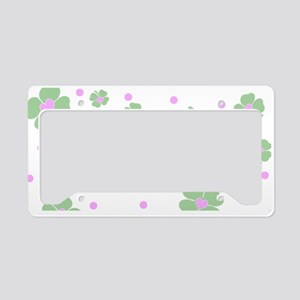 Cute Pink+Mint LUCKY IN LOVE License Plate Holder