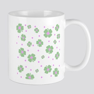 Cute Pink+Mint LUCKY IN LOVE Mugs