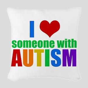 Autism Love Woven Throw Pillow