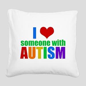 Autism Love Square Canvas Pillow