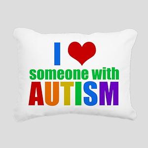 Autism Love Rectangular Canvas Pillow