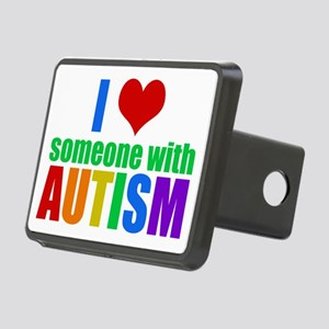 Autism Love Rectangular Hitch Cover