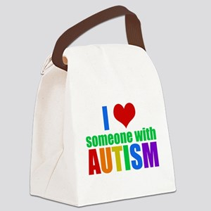 Autism Love Canvas Lunch Bag