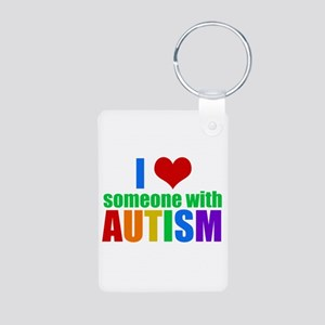 Autism Love Aluminum Photo Keychain