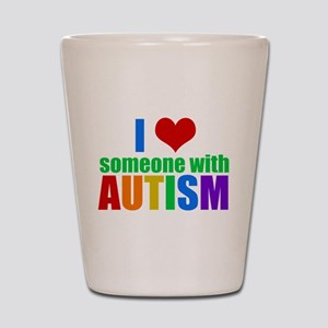 Autism Love Shot Glass