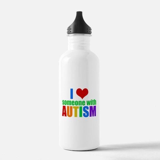 Autism Love Water Bottle
