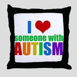 Autism Love Throw Pillow