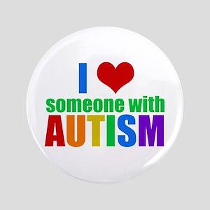 """Autism Love 3.5"""" Button"""