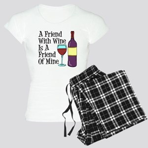 Friend With Wine Friend Of Mine Pajamas