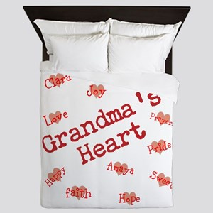 Personalize Name Flower Stars Queen Duvet