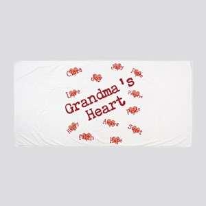 Personalize name Flower Stars Beach Towel