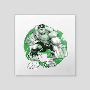 "Hulk Grunge Square Sticker 3"" x 3"""
