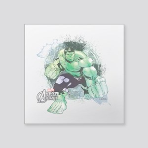 "Hulk Ripped Square Sticker 3"" x 3"""