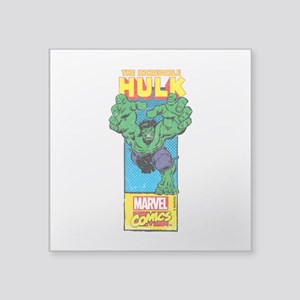 "Hulk Mast Head Square Sticker 3"" x 3"""
