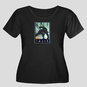 Hulk Sma Women's Plus Size Scoop Neck Dark T-Shirt