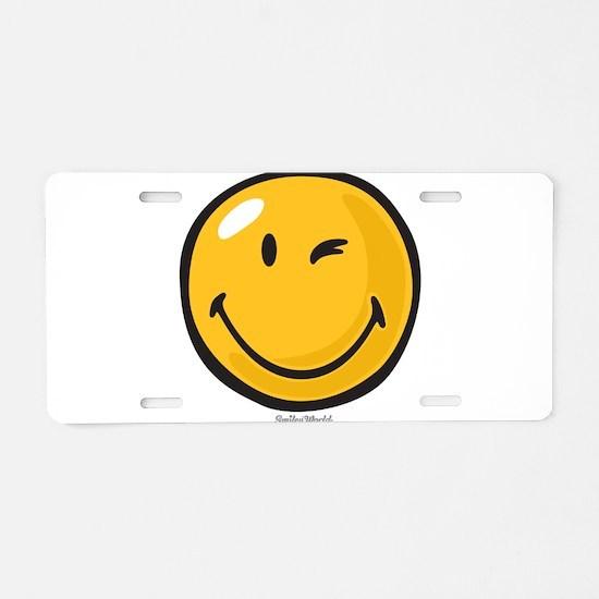 friendly wink Aluminum License Plate