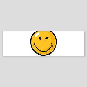 friendly wink Bumper Sticker