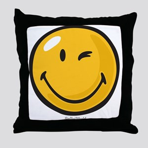 friendly wink Throw Pillow