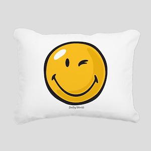 friendly wink Rectangular Canvas Pillow