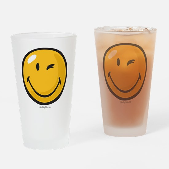 friendly wink Drinking Glass