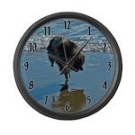 Keeshond Ballet Large Wall Clock