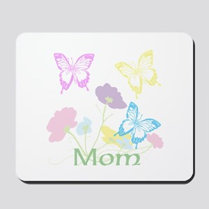 Personalize mom Flowers & Butterflies Mousepad