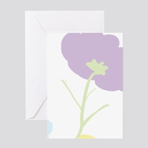 Personalize mom Flowers & Butterflie Greeting Card