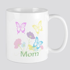 Personalize mom Flowers & Butterflies Mug