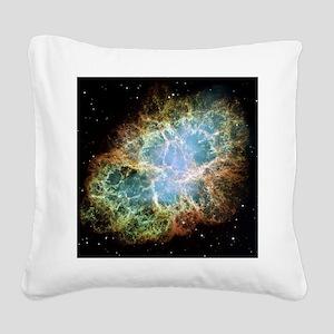 Crab Nebula Square Canvas Pillow
