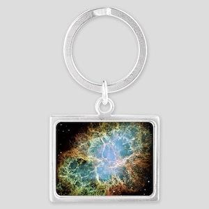 Crab Nebula Landscape Keychain