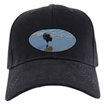 Keeshond Ballet Black Cap with Patch