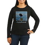 Keeshond Ballet Women's Long Sleeve Dark T-Shirt