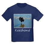 Keeshond Ballet Kids Dark T-Shirt