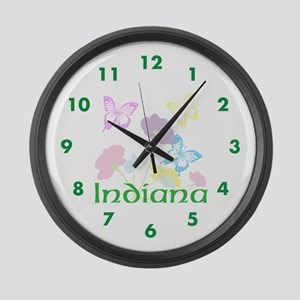 Personalize State Flowers & Butte Large Wall Clock