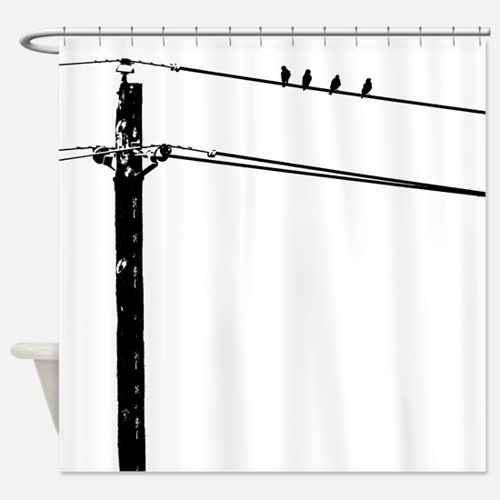 Birds On A Wire Shower Curtain