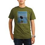 Keeshond Ballet Organic Men's T-Shirt (dark)